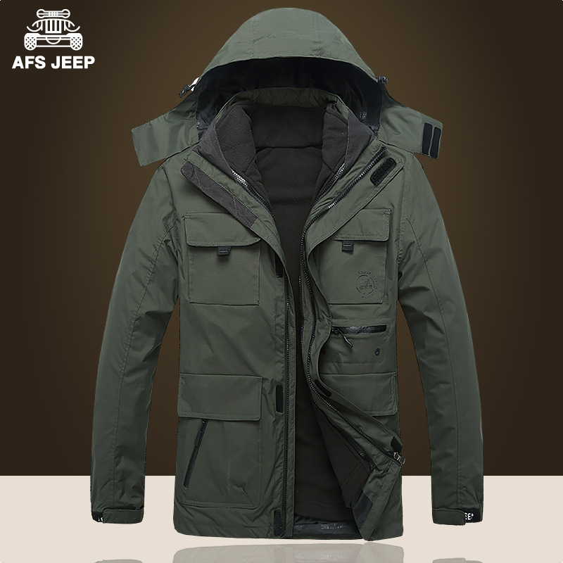 Two sets Army AFS JEEP Jacket 2017 Men Military Tactical Coat Winter Windproof Jackets Camouflage Clothing