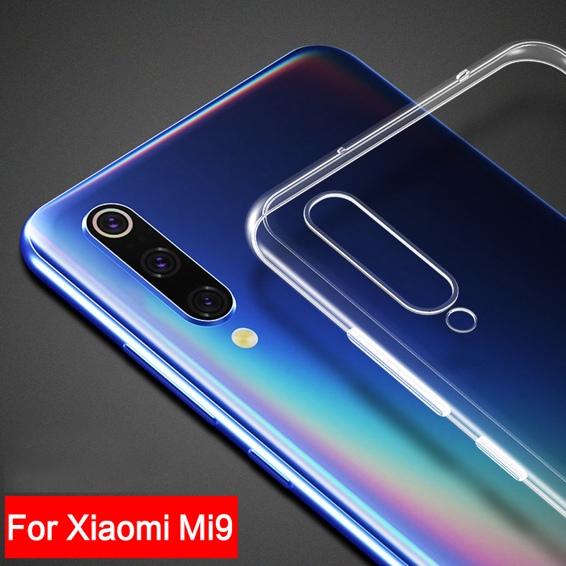 For <font><b>Xiaomi</b></font> Mi <font><b>9</b></font> Case Transparent Soft Silicone TPU Protective Case Back <font><b>Cover</b></font> For <font><b>Xiaomi</b></font> Mi9 SE Mi <font><b>9</b></font> Lite Mi <font><b>9</b></font> Pro A3 Phone Case image