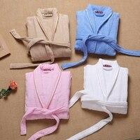 Winter 100% Cotton Men's Bathrobe Soft Long-sleeve Kimono Pajamas For Men Bathrobe Male Spa Night Dress Gown Hombre Sleepwear