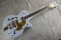 Fábrica Personalizado GRETSCH THE WHITE FALCON 6120 Semi Corpo Oco Jazz Coreanos Tuners Guitarra Elétrica Com Bigsby Tremolo