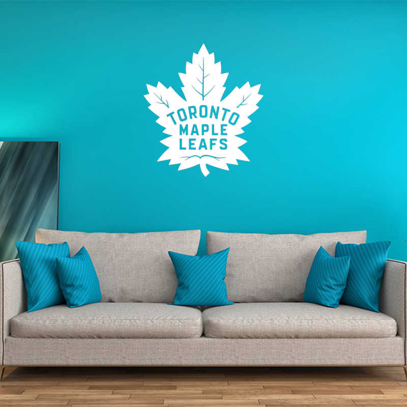 21d7e4ed894 Toronto Maple Leafs Vinyl Wall Stickers For Kids Room Fashion Removeable  Decal Livingroom Bedroom Decoration Art