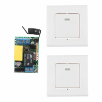 Wireless Panel Wall Transmitter Remote AC 220V 1CH 10A Relay Mini Receiver Learning Code TX Input