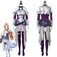 Sword Art Online Fatal Bullet Asuna Cosplay Costume Dress Suit Uniform Adult Women Halloween Carnival Costumes