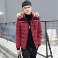 2016 Men's hooded coat thicker winter casual jacket men's youth cotton men's tide Slim short paragraph size cotton-padded jacket