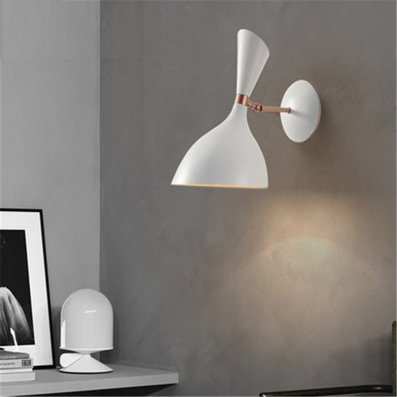 Nordic Loft Style Iron Adjust Wall Sconce Modern LED Wall Light Fixtures Bedroom Rotate Bedside Wall Lamp Deco Indoor Lighting nordic simple modern wall sconce industrial wind adjust iron wall light fixtures bedside led wall lamp home indoor lighting
