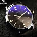 YAZOLE Deportes Reloj de Los Hombres de Primeras Marcas de Lujo de negocios Hombre Reloj Reloj simple Ocio de Moda de Cuero reloj de cuarzo Relogios