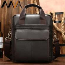 MVA Men's Shoulder Bag Men's Genuine Leather Men Handbag Man Bag Crossbody Bags For Men Business Messenger Bags Handbags 8568(China)