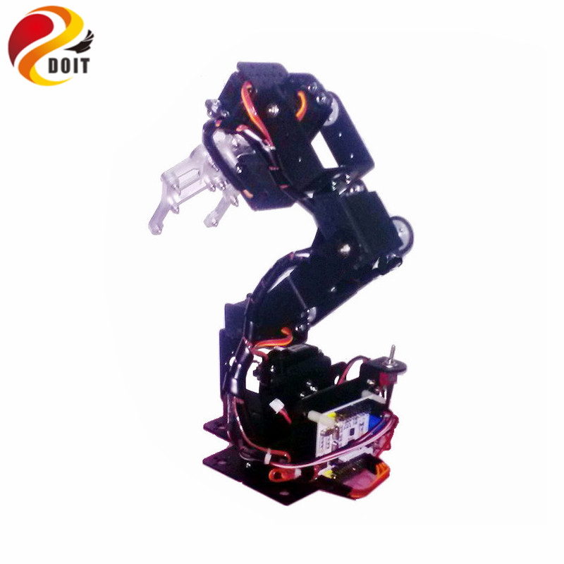 Official DOIT 6 Dof Mechanical Robot Arm Swivel Rotating Machinery Mechanical Robot Structure full Set Robotic Manipulator Claw 4 dof robot mechanical arm claw