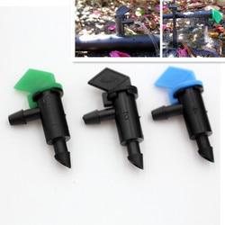 500pcs/pack 4L 8L 16L/H Flag Drip Emitters Outlet Barb Micro Tubing Drip Irrigation Fittings Take Apart Dripper N106