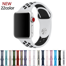 цена на New Soft Colorful 42mm 38mm S L size Silicone Sports wrist band for Apple Watch Strap for iwatch Series 3 2 1 Bracelet