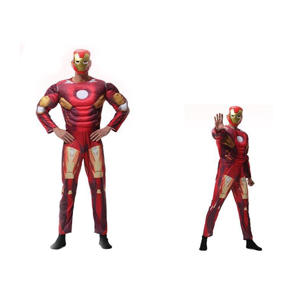 Livraison gratuite Avengers Cosplay Costume Halloween Costume adulte héros fer homme guerrier réalité portable corps masque Cosplay Costume