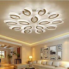 LED chandelier modern  with remote control acrylic lights For Living Room Bedroom Home Chandelier ceiling Fixtures Free Shipping printio череп индейца