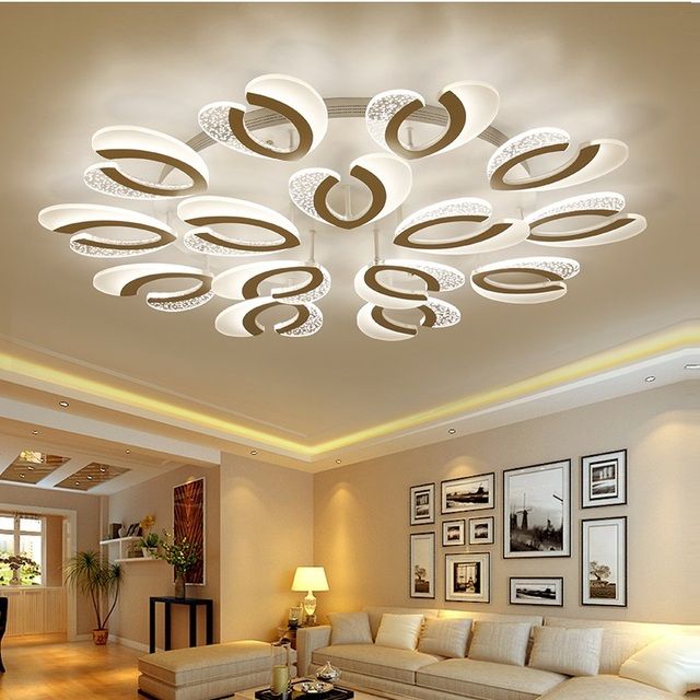 LED chandelier modern  with remote control acrylic lights For Living Room Bedroom Home Chandelier ceiling Fixtures Free Shipping