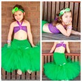 Cartoon Princess Baby Girls Tutu Dress The Little Mermaid Ariels Halloween Party Girls Ball Gown Dresses PT196