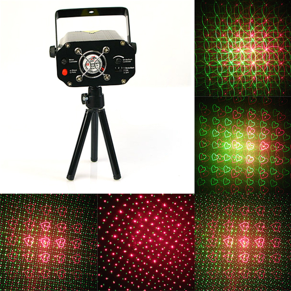 Clearance Sales Quality Guaranteed New Black Mini Projector Holographic Star Stage Laser Light Disco Effect DJ Party Outdoor