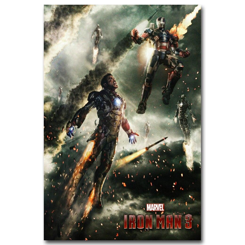 iron man Superheros Movie Art Silk Canvas Poster Print 24x36 inch Home Decor
