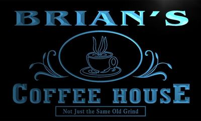 x0020-tm Brians Coffee House Shop Custom Personalized Name Neon Sign Wholesale Dropshipping On/Off Switch 7 Colors DHL