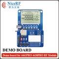 RF4463PRO junta DEMO para módulo RF4463PRO RF módulo inalámbrico con 1 unid envío gratis