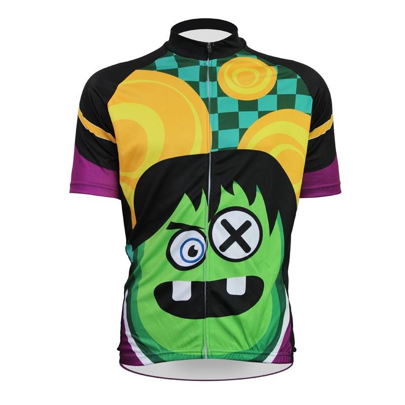 Cycling shirt bike equipment Cartoon Frankenstein Pattern Men's top Sleeve Cycling Jerseys newhot Bike Clothes Size XS-5XL ILPAL frankenstein