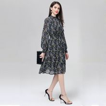 57d231a0947 qepae Marina Kaneva Spring Summer European And American Printing Hedging  Dress