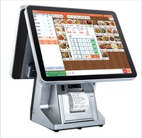 15 Inch Double Touch Screen Meal Ordering Pos System Point Of Sale With Restaurant Pos Software