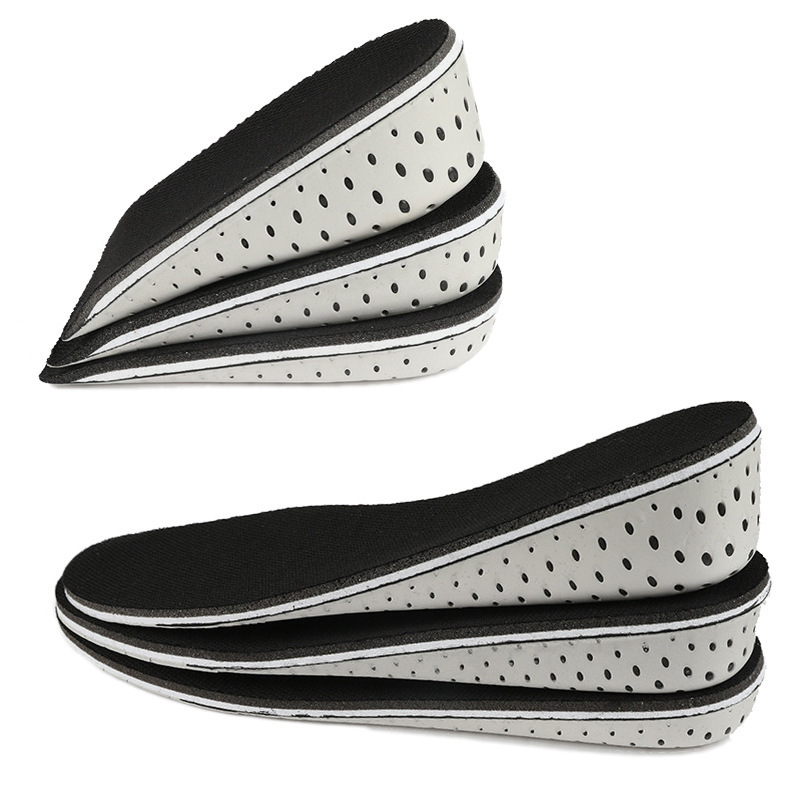 Shoe Pad Heightening Insole 2cm Faux Leather Cushion Breathable Invisible Insert