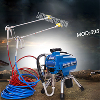 New 595 Electric Plunger High pressure Airless Spraying Machine Professional Latex Paint Spray Paint Machine 220V 4L/min 3000W