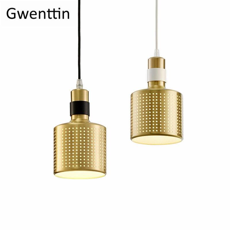 Modern Hollow Brass Pendant Light Fixtures Nordic Gold Hanging Lights for Home Decor Loft Industrial Lamp Suspension Luminaire