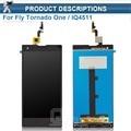 (1 pçs/lote) Para Voar Tornado Um IQ4511 Sensor Do Painel de Tela LCD Com Tela de Toque Digitador Assembléia Substituição Preto
