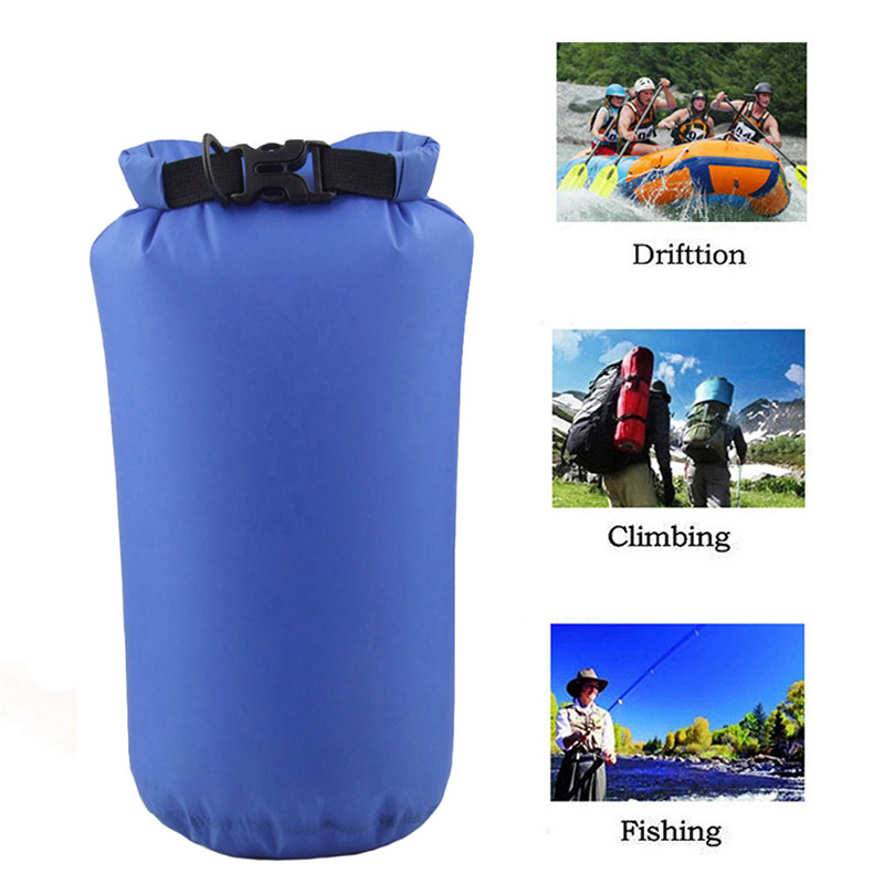 Nylon Portable Waterproof Dry Bag Pouch For Boating Kayaking Fishing Rafting Swimming Camping Rafting SUP Snowboarding 8L