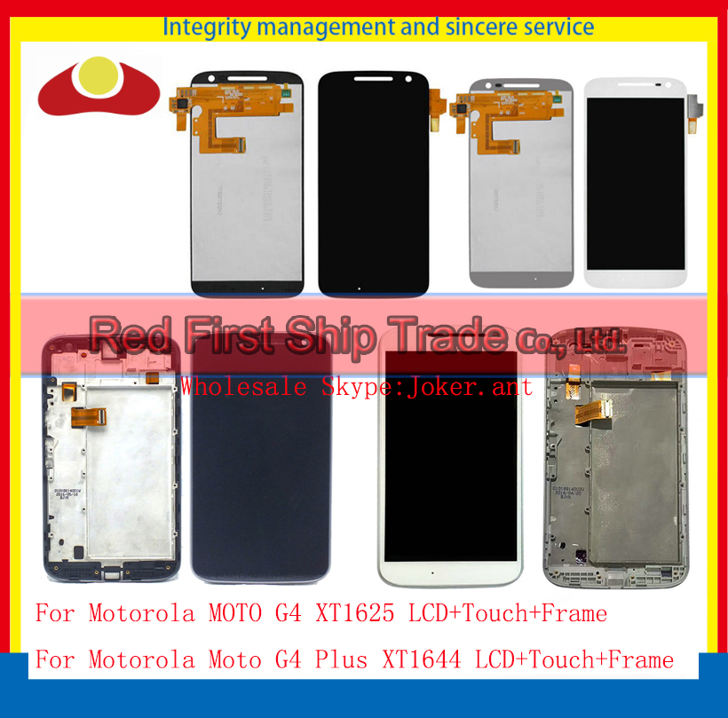 5.5 For Motorola MOTO G4 XT1625 Moto G4 Plus XT1644 Full Lcd Display Touch Screen Digitizer Sensor Assembly Complete with Frame