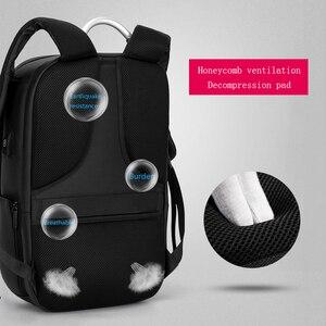 "Image 4 - Fenruien 남자 확장 가능한 배낭 대용량 다기능 15.6 ""노트북 배낭 방수 USB 충전 여행 배낭"