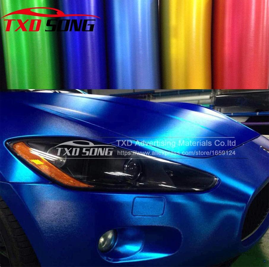 Compteur en vrac vendant 1.52 m * 5 m/10 m/15 m/20 m Chrome mat vinyle brossé film avec bulles d'air mat chrome brossé autocollant