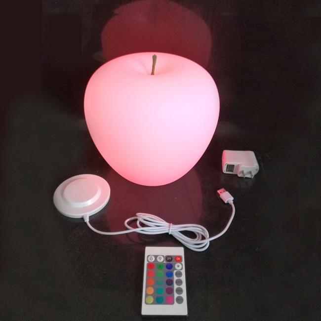 2018 Nový příchod D20 * H19cm 16 Změna barvy RGBW LED stolní lampa pro Coffee Bar Atmosféra Noční lampa Doprava zdarma 1ks