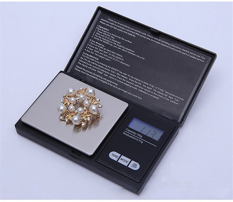 Professional Mini Digital Scale for  Herb Grinder Tobacco Smoking Pipe Accessories Screens Raw Rolling Paper