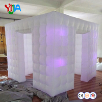 portable inflatable led cube tent for photo booth machines