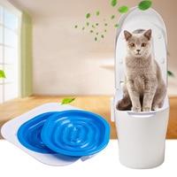Plastic Cat Toilet Training Kit Litter Box Puppy Cat Litter Mat Cat Toilet Trainer Toilet Pet Cleaning Training Supply