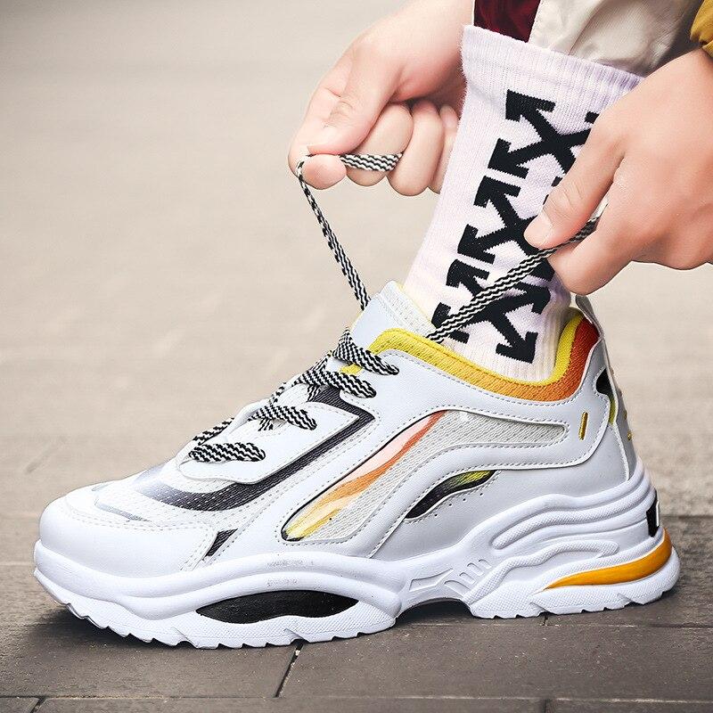 Unissex retro high top chunky tênis masculino cores misturadas designer sapatos masculinos sapatos casuais moda meia sapatos de skate
