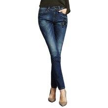 2016 Новая Мода Женщины Сексуальное Джинсы Мягкая Тощий Эластичный Плюс Размер Натяжные Высокая Талия Карандаш Вскользь Уменьшают джинсовые 052b221