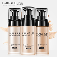 Makeup Base Face Liquid Foundation Concealer LAIKOU Foundation Whitening Moisturizer Oil-control Waterproof Maquiagem 40g BB/CC
