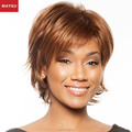 Encantador de Despedida Lado Curto Perucas de Cabelo Humano Para As Mulheres Negras Brasileira Virgem peruca Loira Sem Tampa Peruca de Cabelo Elegante Estilo Europeu