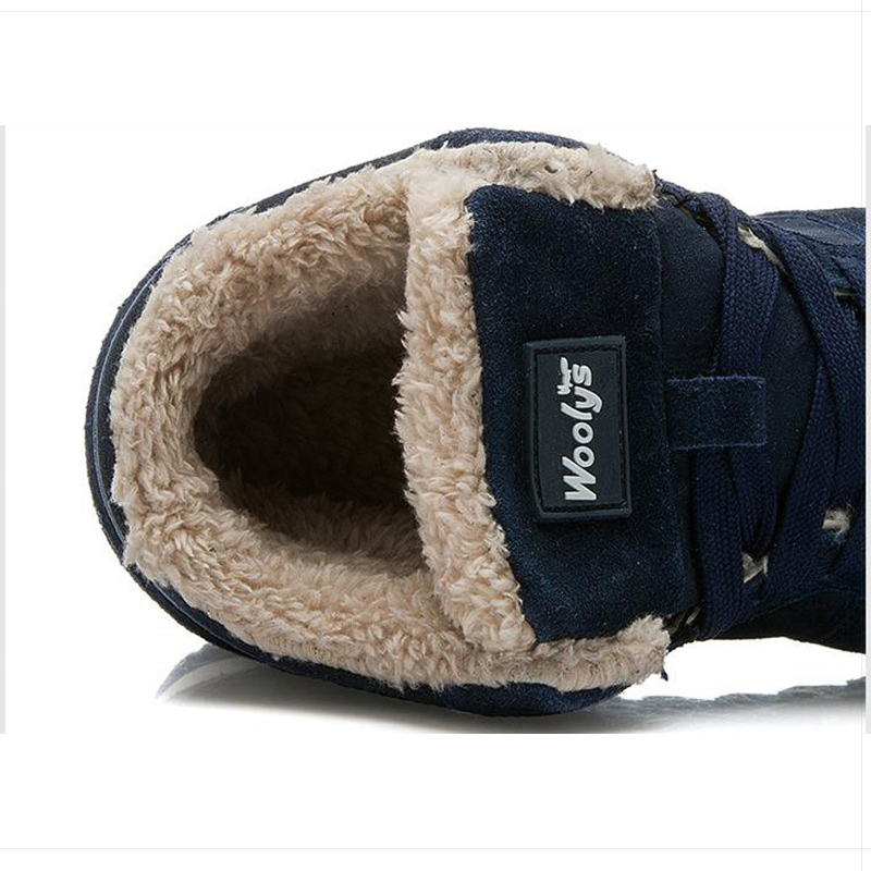 Para Nieve Azul Botas A Negro Moda Hombre Negro Invierno De azul Tobillo La Zapatos InIxXFqEP
