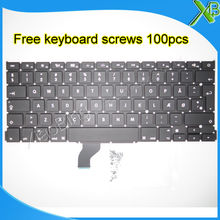 Keyboard Macbook New for Pro Retina A1502/Dk/Denmark 100pcs Screws Screws