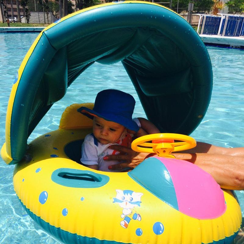Baby Kids Summer Swimming Pool Swimming Ring Inflatable Swan Swim Float Water Fun Pool Toys Swim Ring Seat Boat Water Sport in Swimming Rings from Sports Entertainment