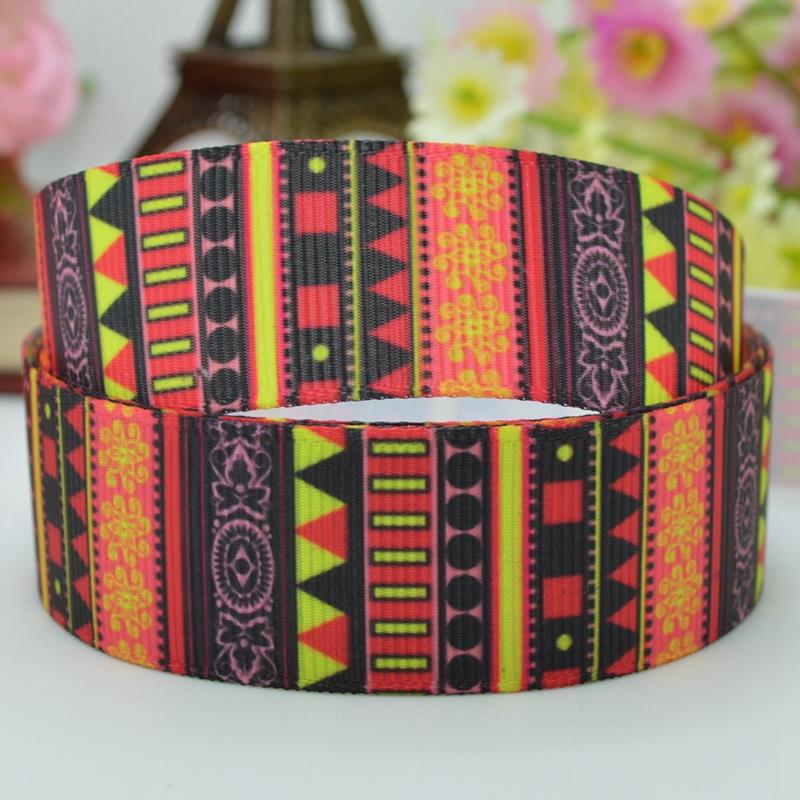 High quality printed ribbon 50 yards 22mm handmade striped material birthday gift paking polyester single face 7/8