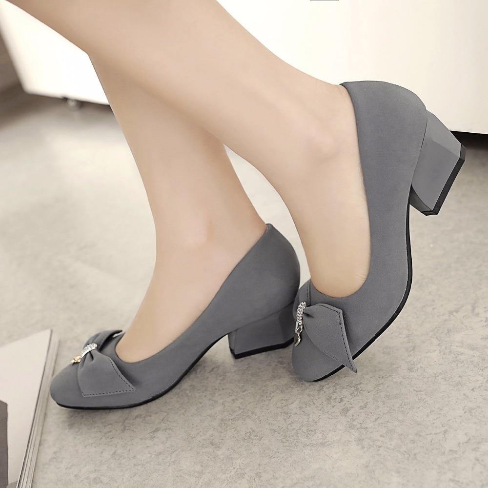 2017 Sale Four Season  Big Size 31-47Spring Autumn Women's Pumps Square Toe Women Shoes High Heels Concise And Elegant Shoes 504