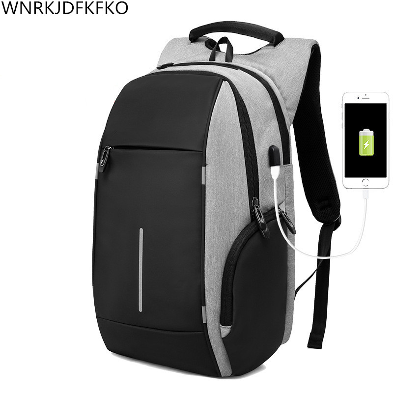 New Oxford Cloth Backpack Mens 20 inch Laptop Backpack External USB Charging Multi-Purpose Anti-Theft Backpack Lady Backpack hadley backpack
