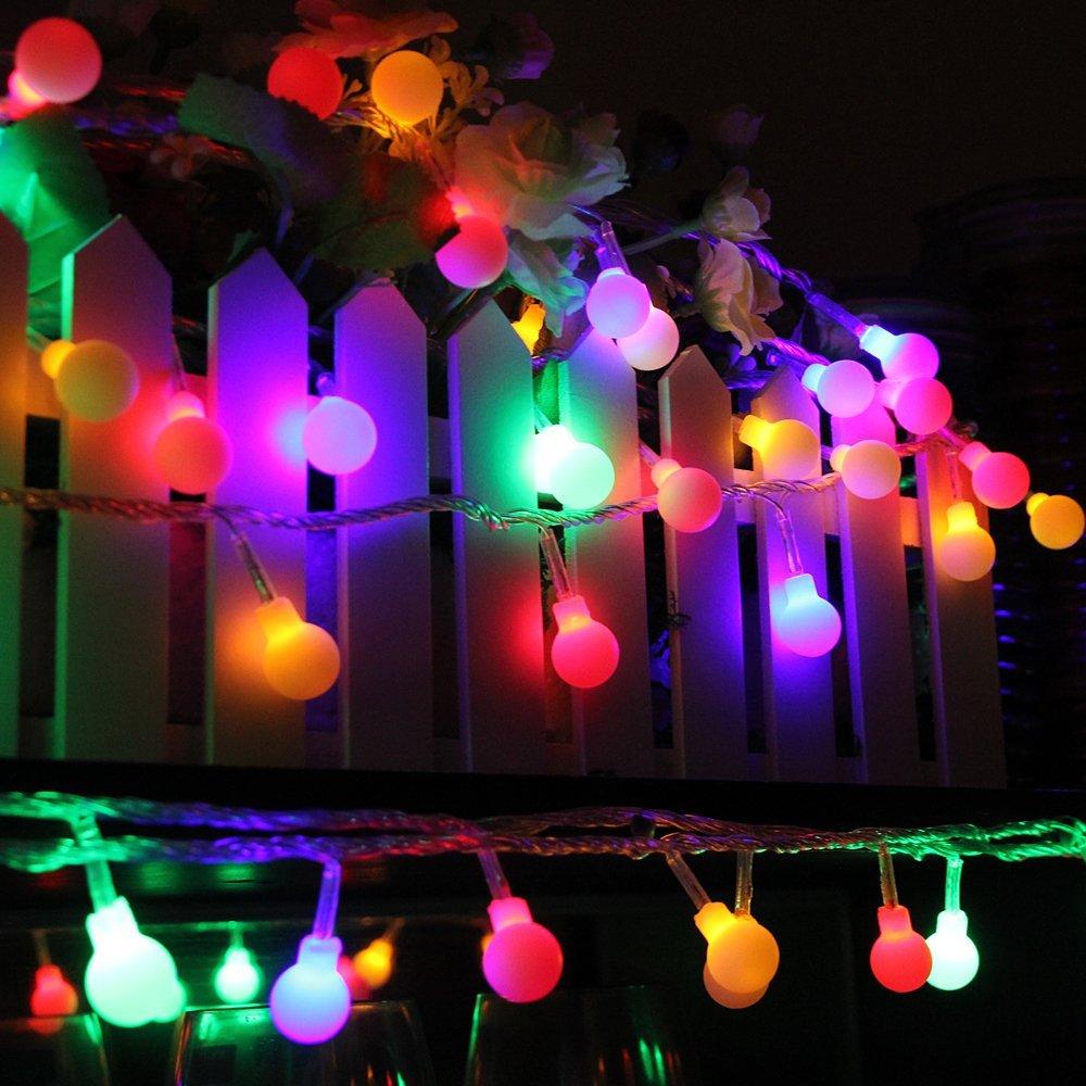 AC220V 5M 28LED Cherry Ball lampu tali mentol Garland LED hiasan - Pencahayaan perayaan - Foto 5
