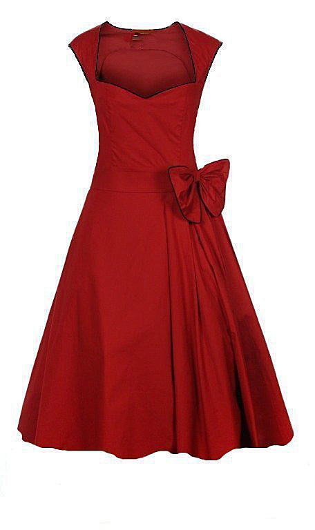 28ef910f4d61 uk western designs sweetheart a line knee length ladies red dress short  vintage design plus sizes online shopping stores-in Dresses from Women s  Clothing ...