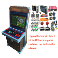 960 in 1 Pandora Box 5 DIY Arcade game machine Kit With Power Supply Jamma Harness copy sanwa Joystick LED Button coin acceptor